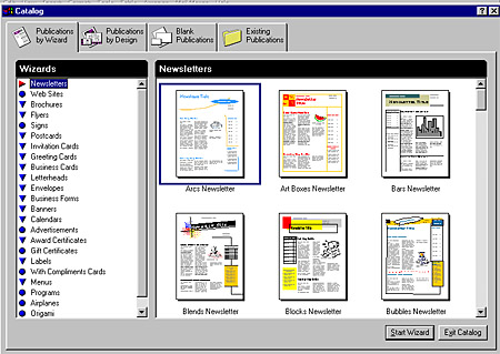 microsoft publisher designs
